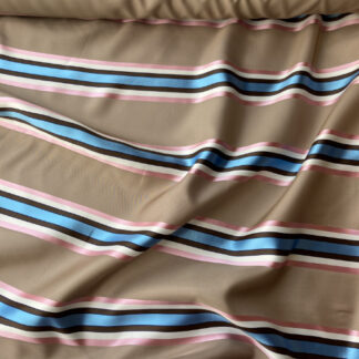 camel satin stripe designer fabric