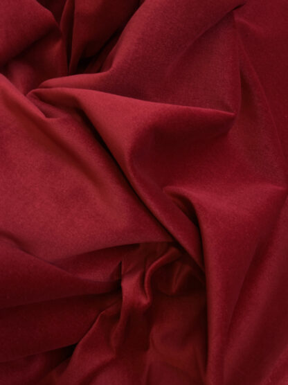 Wine Red 100% Cotton lightweight (225gsm) Velvet